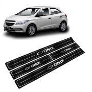 Adesivo Soleira Resinada Chevrolet Onix 4 Portas