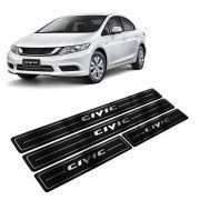 Adesivo Soleira Resinada Honda Civic E New Civic 4 Portas