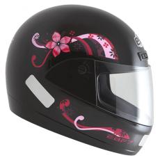 Capacete Moto Feminino Penélope Ebf Fit Preto e Rosa Fechado