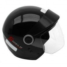 Capacete Moto Shield Solid Ebf Aberto Preto