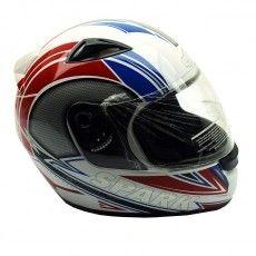 Capacete Moto EBF New Spark Bolt Branco e Vermelho Fechado