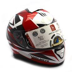 Capacete Mt Helmets Thunder 3 Effect White e Red
