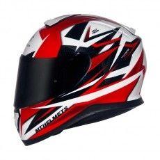 Capacete Mt Helmets Thunder 3 Effect White e Red (58)