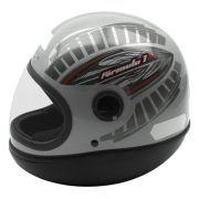 Capacete Taurus Formula 1 R Grafic Prata (54)