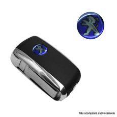 Emblema Logo Chave Canivete Peugeot Resinado
