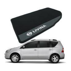 Tapete Carpete Bordado Nissan Livina 2009 Até 2013 Com Logo