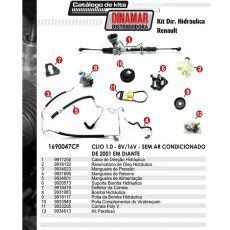 Kit De Direção Hidráulica Do Renault Clio 1.0 8V/16V De 2001 Em Diante (Modelos Sem Ar Condicionado)