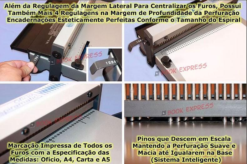 Kit Encadernadora + Guilhotina Facão A4 30cm + Insumos  - Book Express