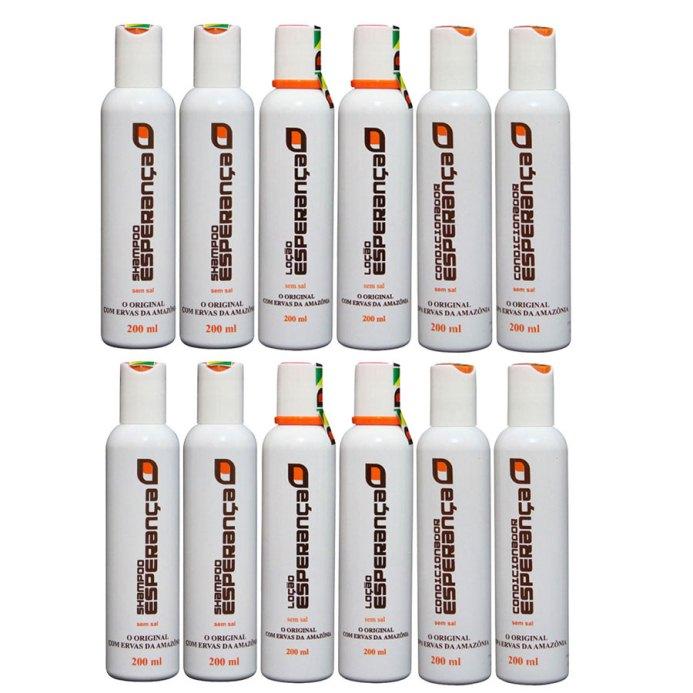 FRETE GRÁTIS CAPITAIS - 15 Frascos: 08 Loções + 07 Condicionadores - Queda de Cabelo e Calvície  - Shampoo Esperança