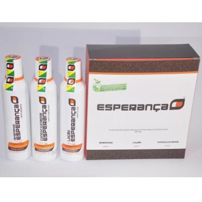 FRETE GRÁTIS CAPITAIS- 2 Kits (06 frascos) - Linha Shampoo Esperança  do Globo Repórter para Queda de Cabelo e Calvície (Shampoo + Loção + Condicionador)