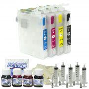 Cartuchos Recarregáveis para T25, TX125, TX123, TX133 e TX135 + 120ml de Tintas e Seringas