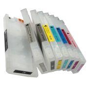Cartuchos Recarregáveis Para Plotter Epson 7800  - 9800 Com Chip