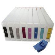 Cartuchos Recarregáveis Plotter 7880, 9880 Chip e Reseter