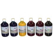 Kit 3L de Tinta Pigmentada para Epson e Brother (500ml de cada cor)