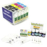 Kit Cartuchos Recarregáveis Tinta Pigmentada para Epson T33 (Completo)