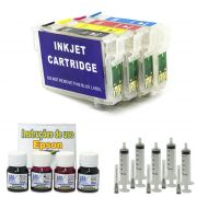 Kit Cartuchos Recarregáveis TX200, TX210, TX220, TX400, TX410 e TX300F  + 120ml Tinta Corante