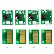 Kit com 4 chips Reset unid. imagem para Konica  modelos C224/C364/C284/C454/C554