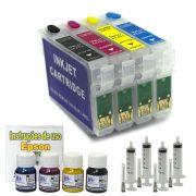 Kit Recarregável para Epson TX550 com Tinta Pigmentada