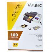 Polaseal para Plastificação A3 de 0,05mm - 100 unidades VISUTEC