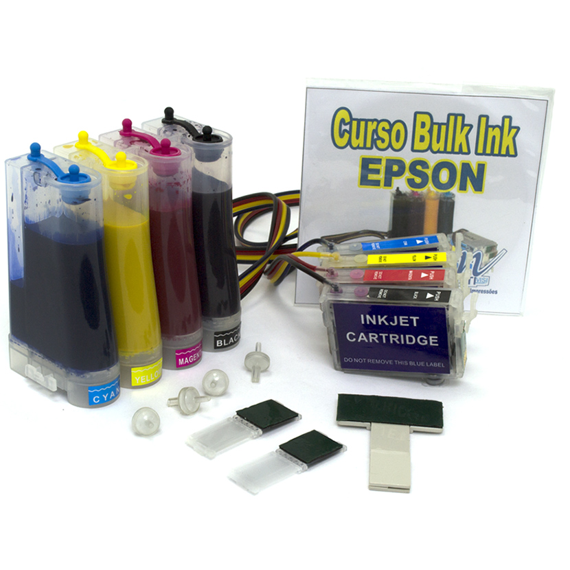 Bulk Ink TX400, TX410 com Cartuchos e 400ml Tinta Pigmentada