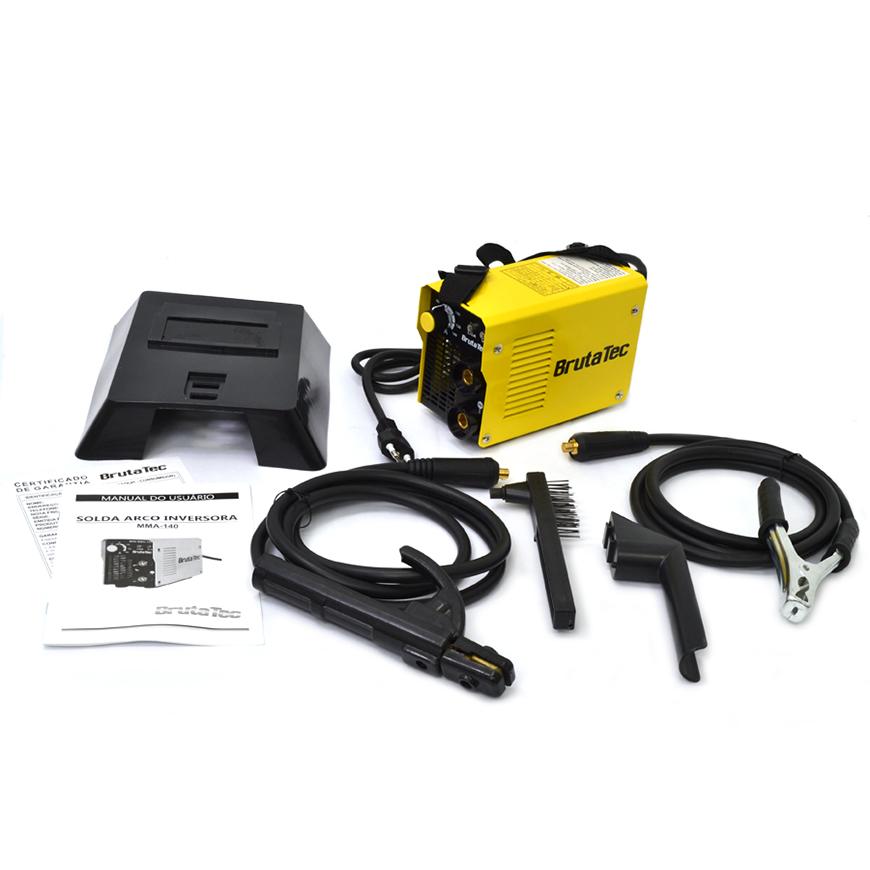 Mini máquina de solda inversora portátil MMA-140 BRUTATEC- 220V