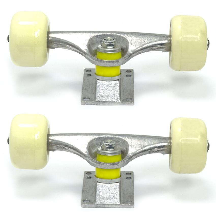 Truck Grosso em Alumínio de 190mm com Jogo de Rodas para Skate