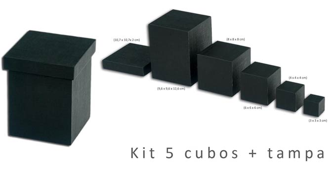 Expositor Kit com 5 cubos