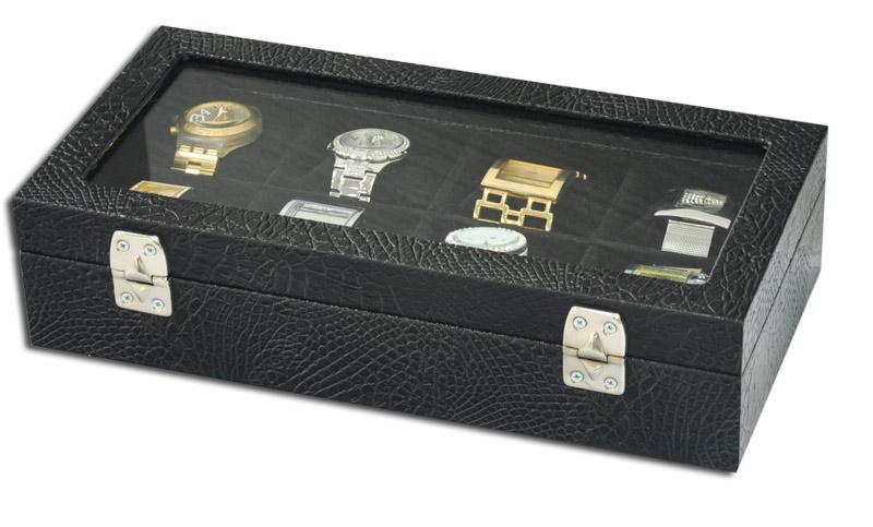 Estojo / Porta relógios para 8 relógios com expositor