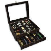 Expositor duplo para relógios e peças diversas