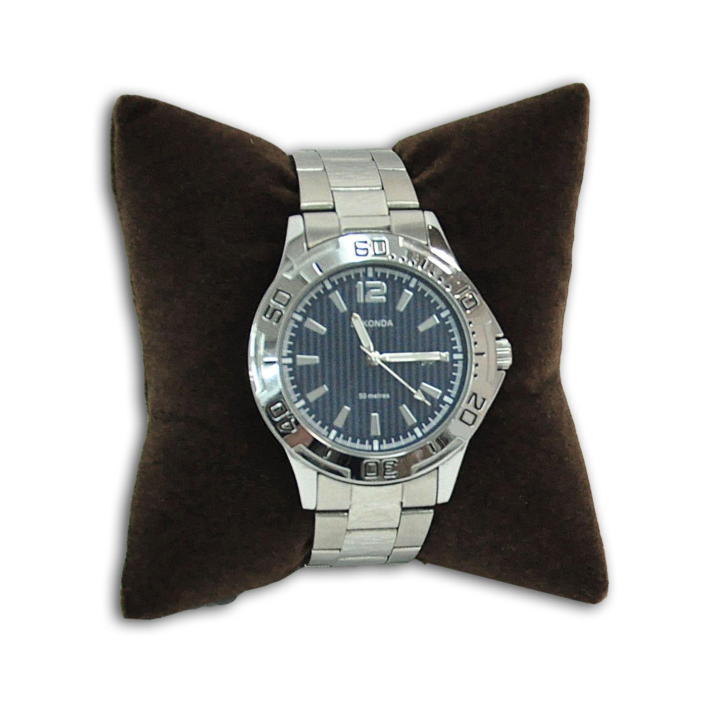 Almofada para pulseiras ou relógios em veludo marrom