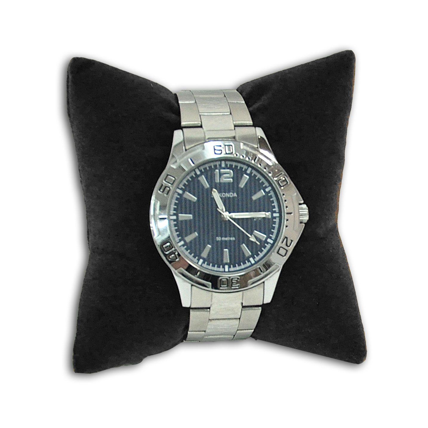 Almofada para pulseiras ou relógios em veludo preto