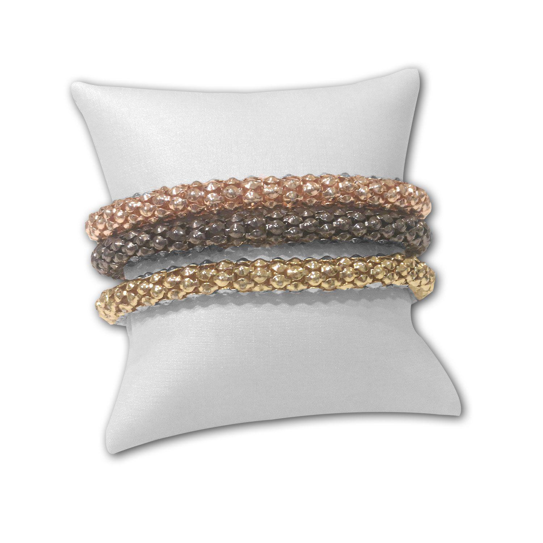 Almofada  para pulseiras ou relógios em Couro Sintético Branco
