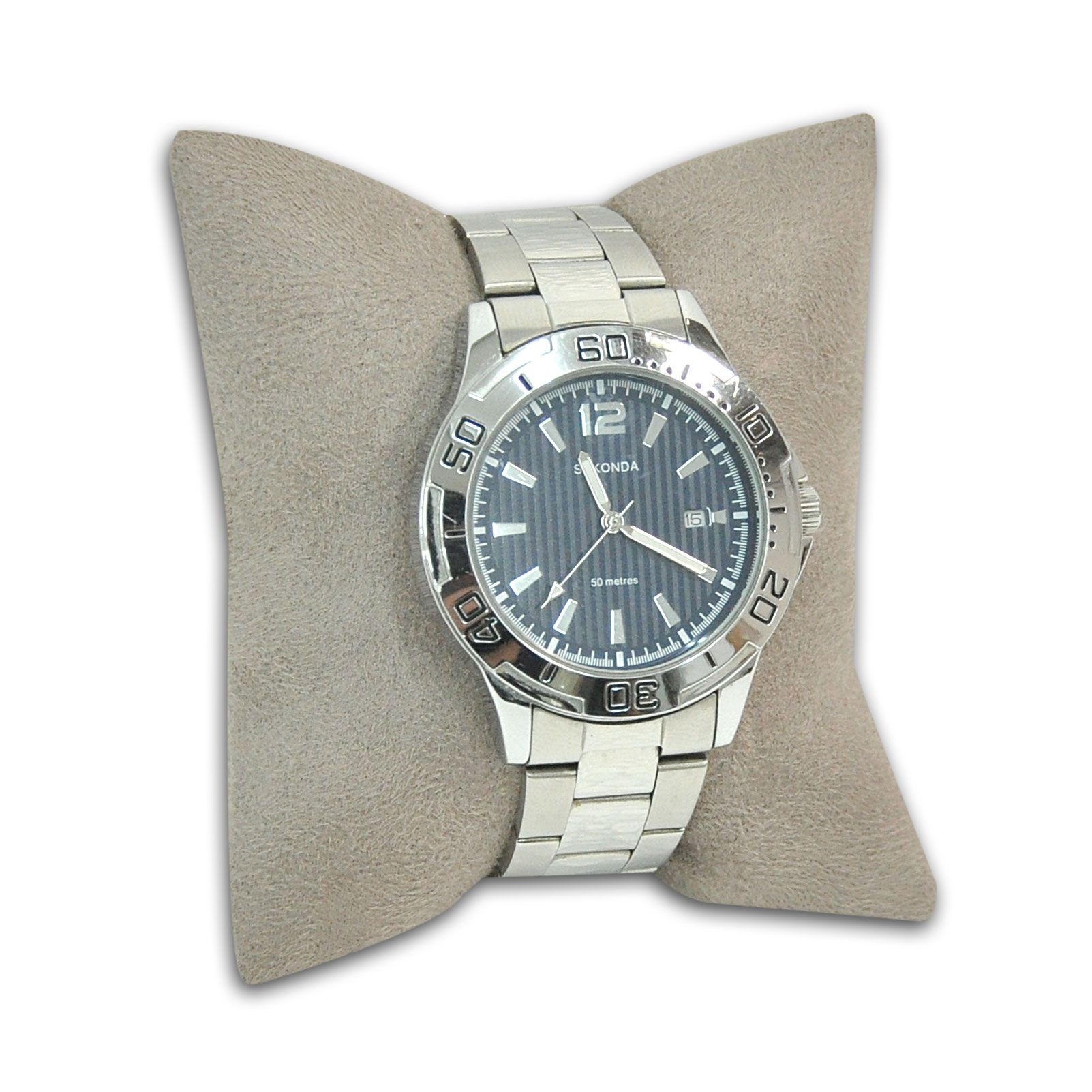 Almofada  para pulseiras ou relógios em Suede Taupe