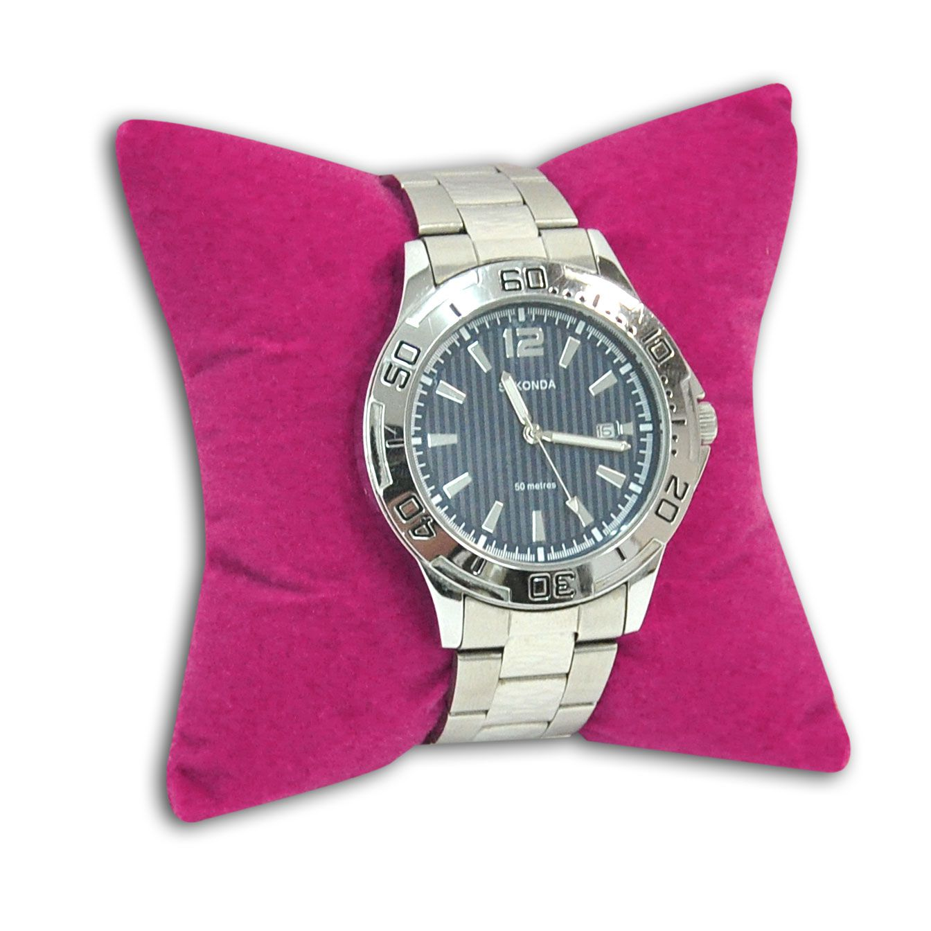 Almofada para pulseiras ou relógios em veludo pink