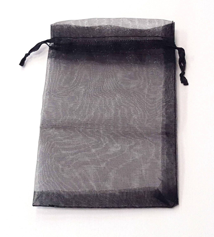 Embalagem / Saco Organza PRETO 10 x 15 - c/ 100 un.