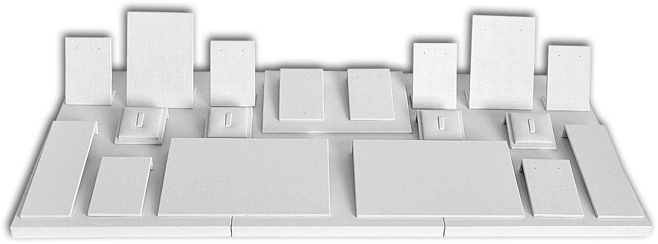 Mega kit de expositores para vitrines - modelo 1