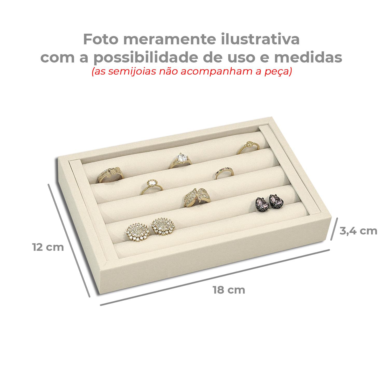 Mini Bandejinha para anéis - Rosê
