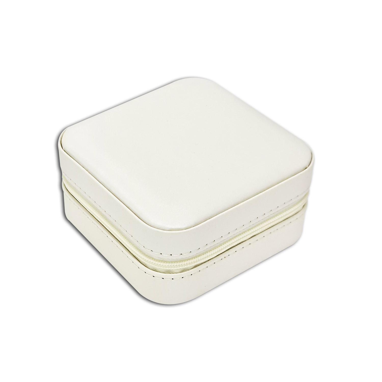 Mini Porta-Joias quadrado - Branco / Rosê