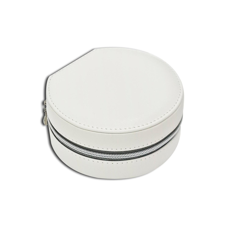Mini Porta-Joias redondo - Branco / Rosê