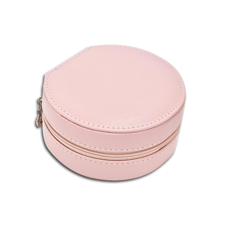 Mini Porta-Joias redondo - Rosa bebê / Rosê
