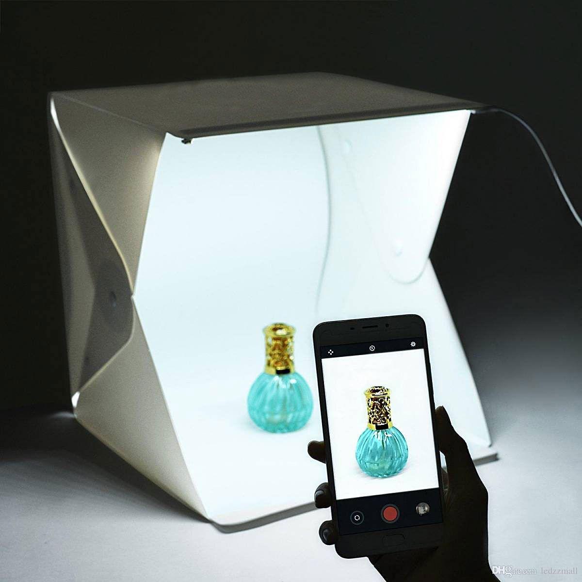 Mini Studio portátil com iluminação em LED