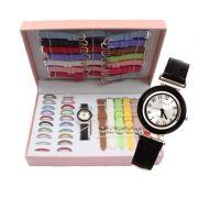 Kit Relógio Feminino 21 Pulseiras - 21 Aros - ILIMITI SHOP