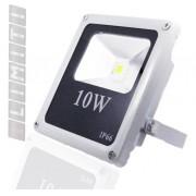 Refletor Led - Holofote Branco Frio 10w - Ip66 Bivolt Slim
