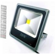 Refletor Led - Holofote Branco Frio 30w - Ip66 Bivolt Slim