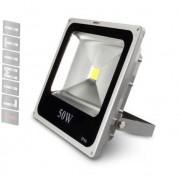 Refletor Led - Holofote Branco Frio 50w - Ip66 Bivolt Slim