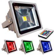 Refletor Holofote De Led 30w Rgb,com Controle