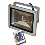 Refletor Holofote De Led 10w Rgb,com Controle