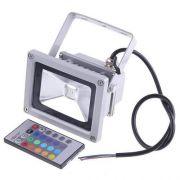 Refletor Holofote De Led 20w Rgb,com Controle