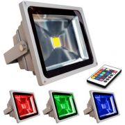 Refletor Holofote De Led 50w Rgb,com Controle