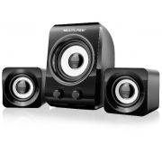 Home Theater / Caixas 2.1 Multilaser Subwoofer 14w Rms Usb